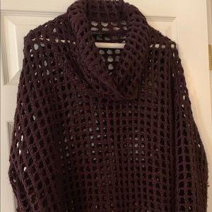 Lane Bryant dark purple sweater loose fit